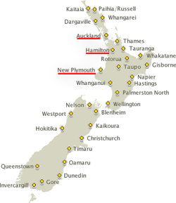 Hamilton New Zealand Map.International Students